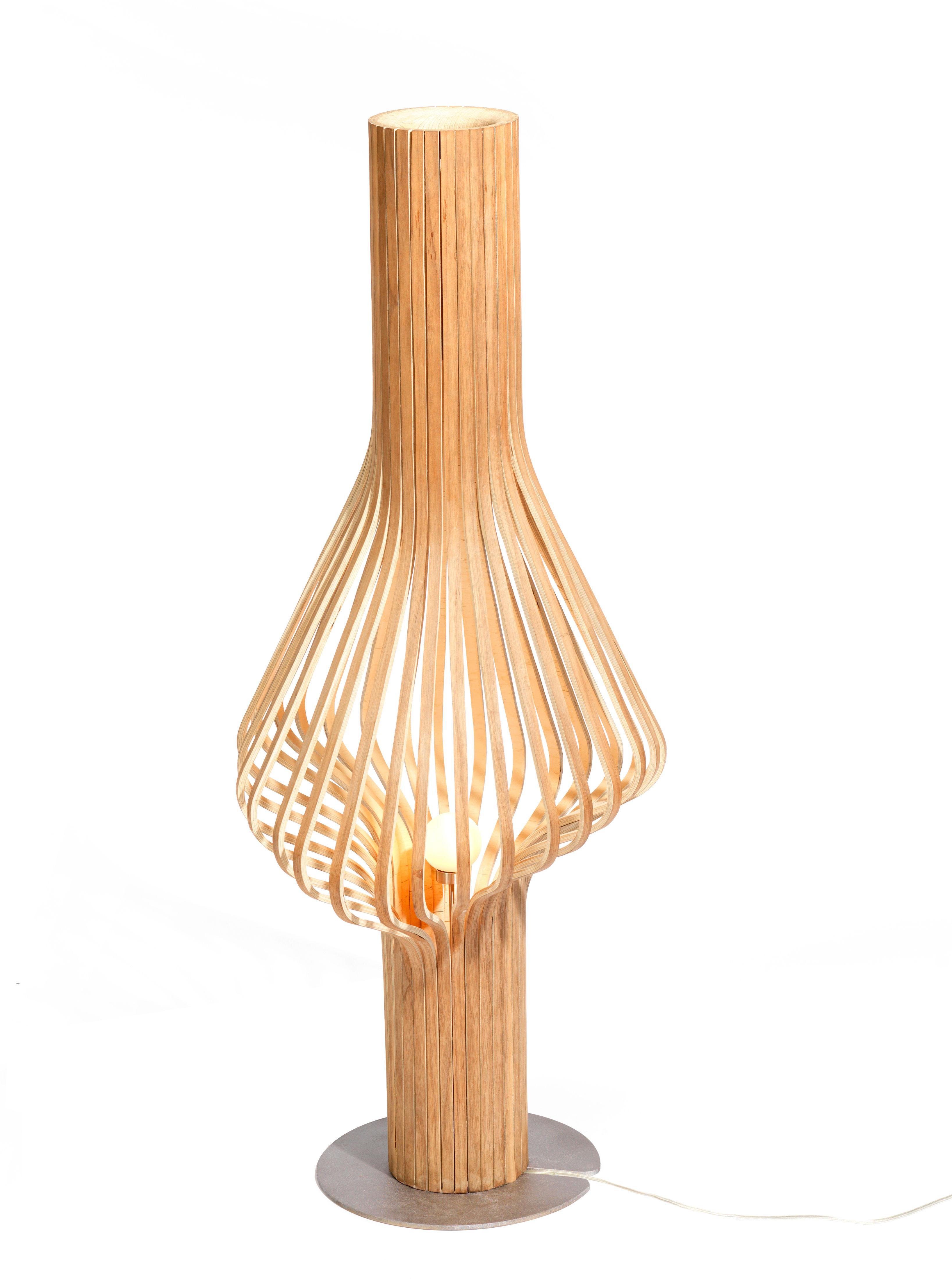 Leuchten - Stehleuchten - Diva Stehleuchte H 120 cm - Northern  - Eiche - Eichenholzfurnier, mundgeblasenes Glas