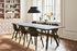 Neu 12 Stuhl / Kunststoff & Holz mit Verbindungsteil Aluminium - Hay