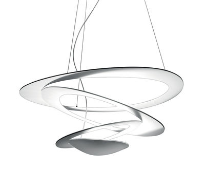 Luminaire - Suspensions - Suspension Pirce Mini LED / Ø 69 cm - Artemide - Blanc - Aluminium verni