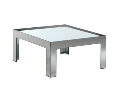 Table basse Mirror Mirror 70 x 70 cm - Glas Italia métal en verre