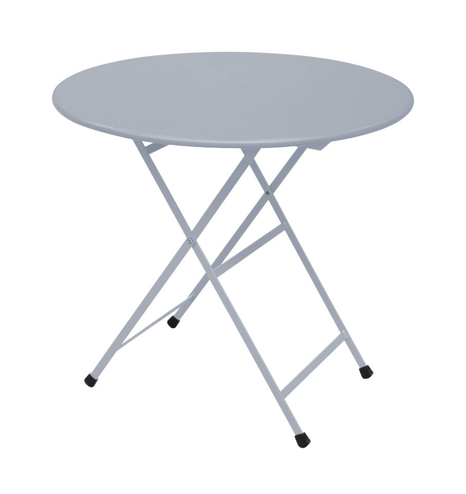 Outdoor - Tables de jardin - Table pliante Arc en Ciel / Ø 80 cm - Emu - Aluminium - Acier inoxydable verni