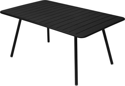 Jardin - Tables de jardin - Table rectangulaire Luxembourg / 6 à 8 personnes - 165 x 100 cm - Fermob - Réglisse - Aluminium laqué