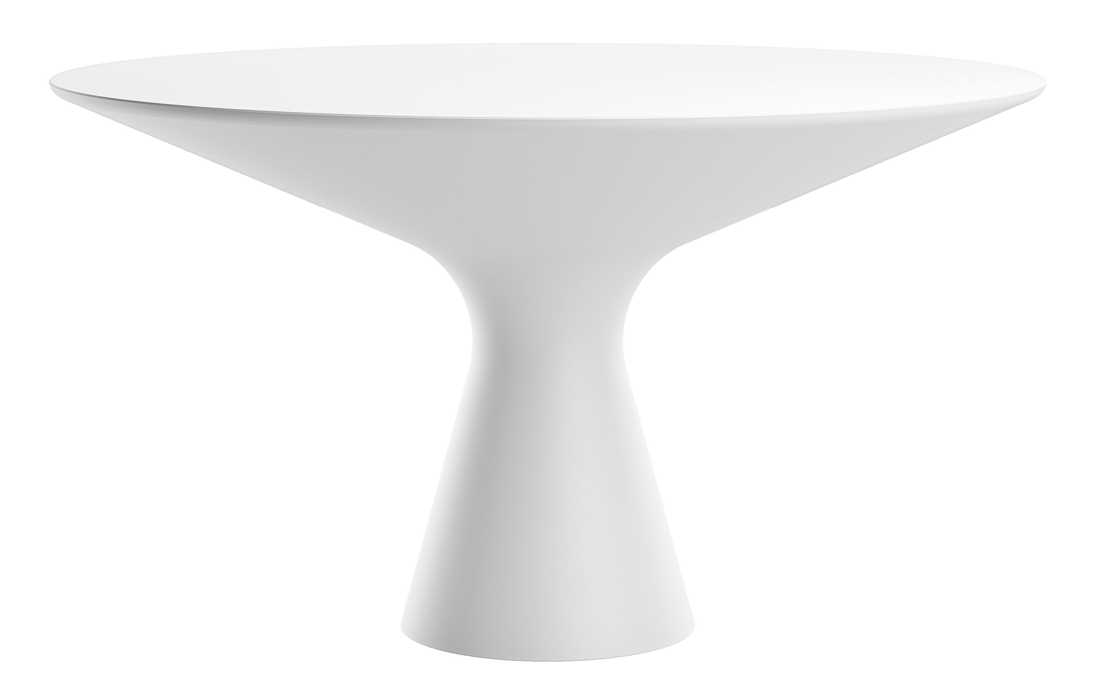 Mobilier - Tables - Table ronde Blanco / Ø 130 cm - Zanotta - Blanc - Cristalplant