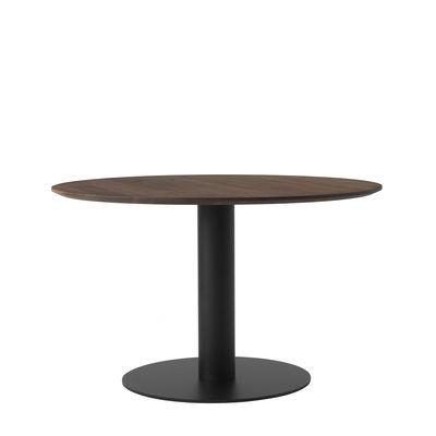 Table ronde In Between SK12 / Pied central - Ø 120 - Noyer - &tradition noir,noyer en bois