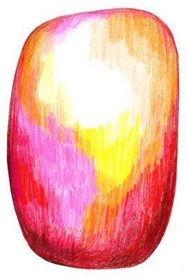 Tapis Scribble / 300 x 200 cm - Moooi Carpets jaune,rouge en tissu