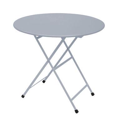 Outdoor - Tavoli  - Tavolo pieghevole Arc en Ciel - Ø 80 cm - Pieghevole di Emu - Alluminio - Acciaio inossidabile verniciato