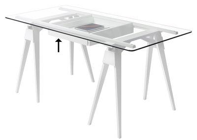 Mobilier - Bureaux - Tiroir / Pour bureau Arco - Design House Stockholm - Tiroir / Blanc - Bois massif laqué