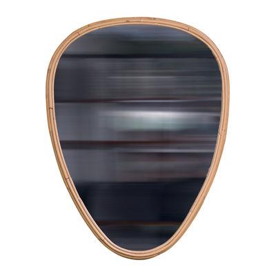 Decoration - Mirrors - Ovo Medium Wall mirror - / 58 x 75 cm - Rattan by Maison Sarah Lavoine - Natural rattan - Glass, Rattan