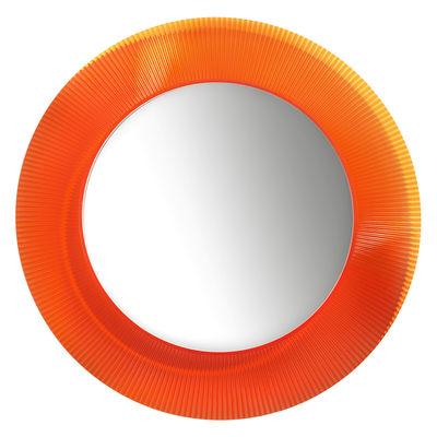 Accessoires - Accessoires für das Bad - All Saints Wandspiegel / Ø 78 cm - Kartell - Mandarin-Orange - PMMA