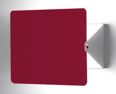 Illuminazione - Lampade da parete - Applique con presa - con elemento girevole E14 by Charlotte Perriand - Riedizione 1965 di Nemo - Bianco / Placca girevole rossa - alluminio verniciato, metallo verniciato