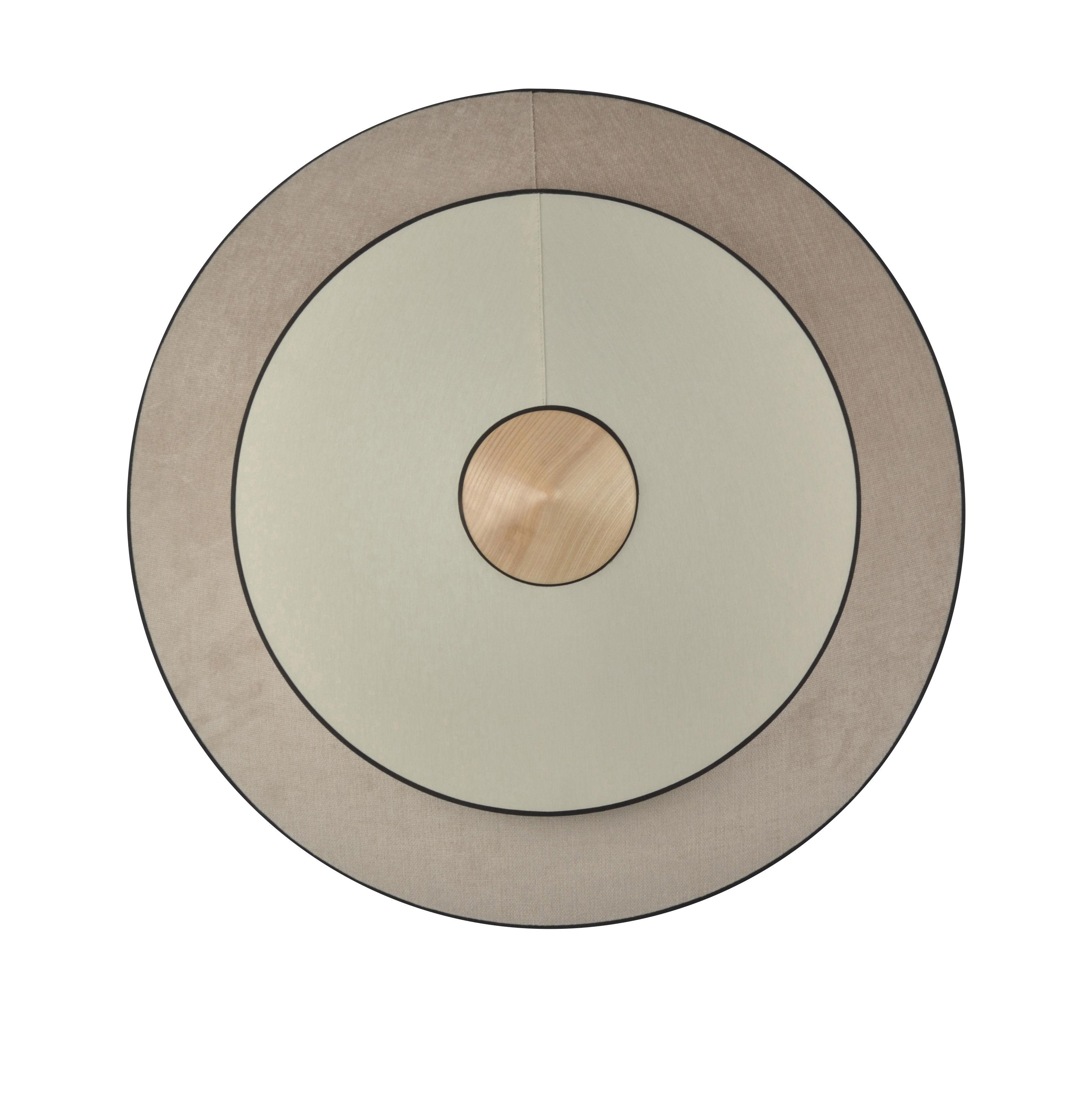 Illuminazione - Lampade da parete - Applique Cymbal LED - / Large - Ø 70 cm - Tessuto di Forestier - Naturale - Coton tissé, Rovere, Velluto