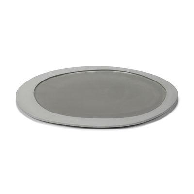 Assiette Inner Circle / Large - 33 x 30 cm / Grès - valerie objects gris en céramique