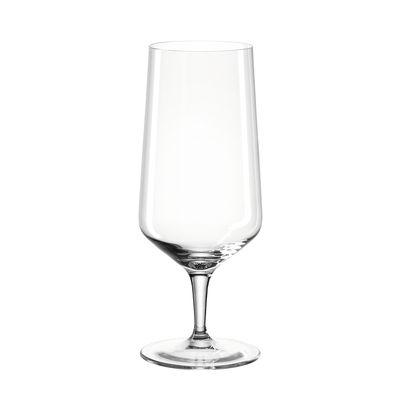 Tavola - Bicchieri  - Bicchiere da birra Puccini - / 410 ml di Leonardo - Trasparente - Vetro Teqton