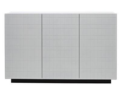 Arredamento - Contenitori, Credenze... - Buffet Toshi - / Modello n°4 - L 136 x H 86 cm di Casamania - Bianco/ Base antracite - MDF laccato, Metallo