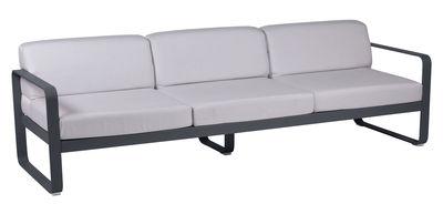 Canapé droit Bellevie 3 places L 235 cm Tissu blanc Fermob blanc grisé,carbone en métal