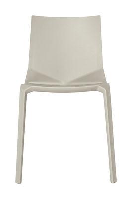 Chaise empilable Plana Plastique Kristalia beige en matière plastique