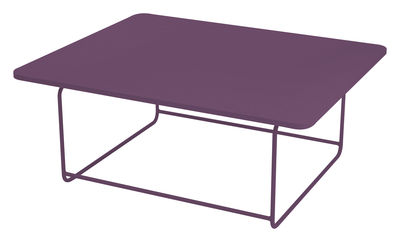 Furniture - Coffee Tables - Ellipse Coffee table - Low table 110 x 90 cm - H 48 cm by Fermob - Aubergine - Lacquered steel