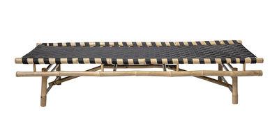Mobilier - Canapés - Dormeuse Vida / 190 x 70 cm - Bambou - Bloomingville - Bambou & noir - Bambou, Tissu