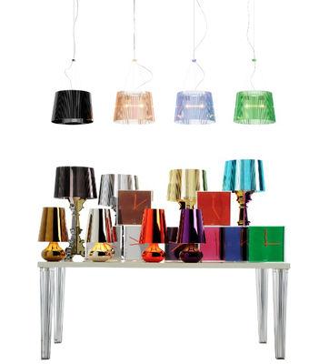 Kartell Bourgie lampada da tavolo color titanio di design