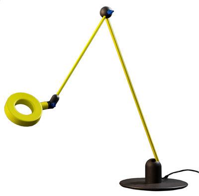 Lampe de table L'amica LED - Martinelli Luce vert -jaune en métal