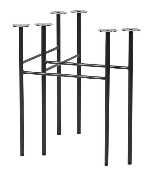 Mobilier - Bureaux - Paire de tréteaux Mingle Large / L 68 cm - Ferm Living - Tréteaux / Noir - Métal laqué époxy