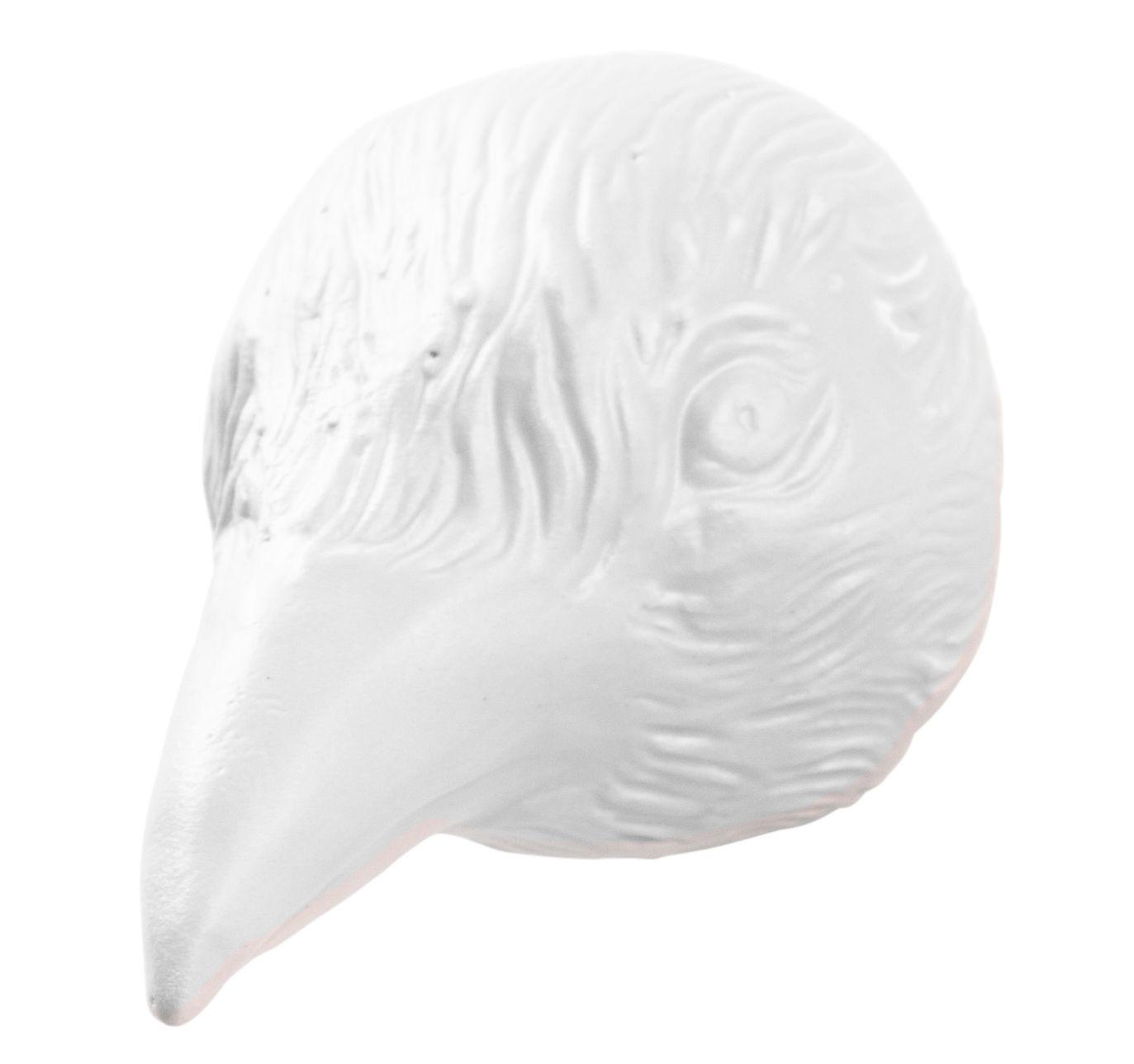 Mobilier - Portemanteaux, patères & portants - Patère Birdy - Domestic - Blanc / Oiseau - Céramique