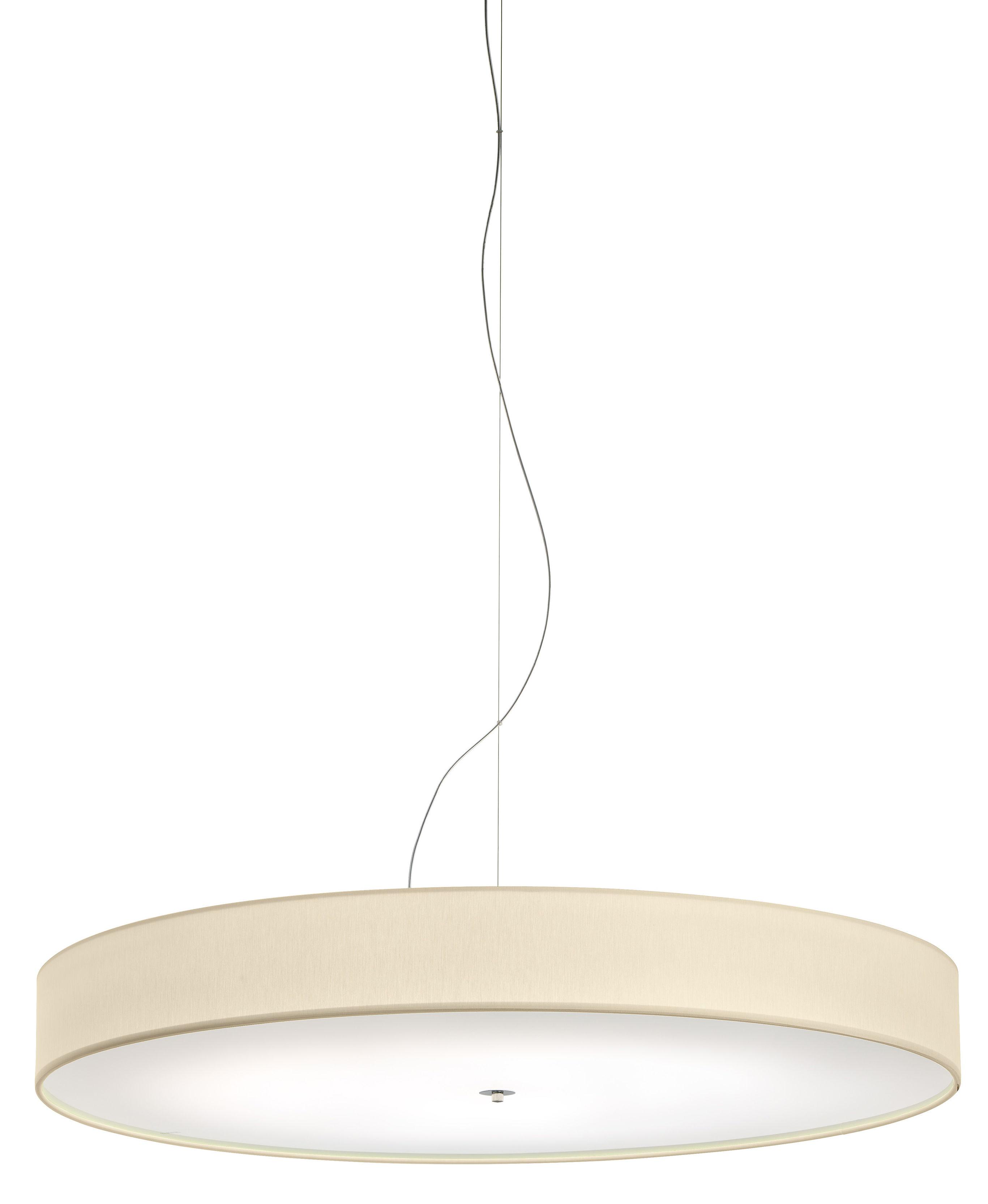 Lighting - Pendant Lighting - Discovolante LED Pendant - / Ø 60 cm by Modoluce - Cream - Cotton, Plexiglas