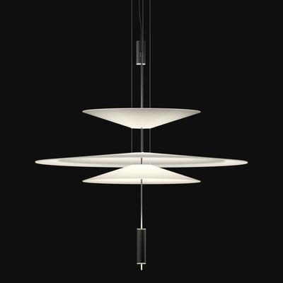 Lighting - Pendant Lighting - Flamingo Pendant - LED / Ø 90 cm by Vibia - Graphite diffuser / White shades - Acrylic, Metal, Methacrylate