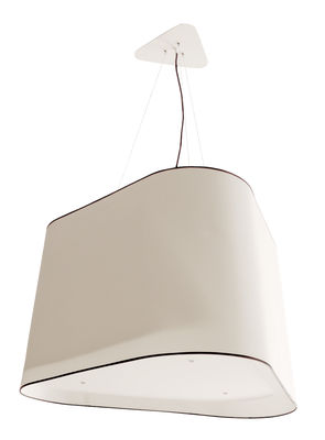 Lighting - Pendant Lighting - Grand Nuage XXL Pendant - XXL by Designheure - White / Black border - Cotton canvas