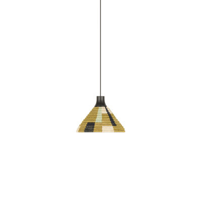 Lighting - Pendant Lighting - Parrot XS Pendant - / Ø 26 x H 18 cm - Hand-braided abaca by Forestier - Green - Abaca, Oak