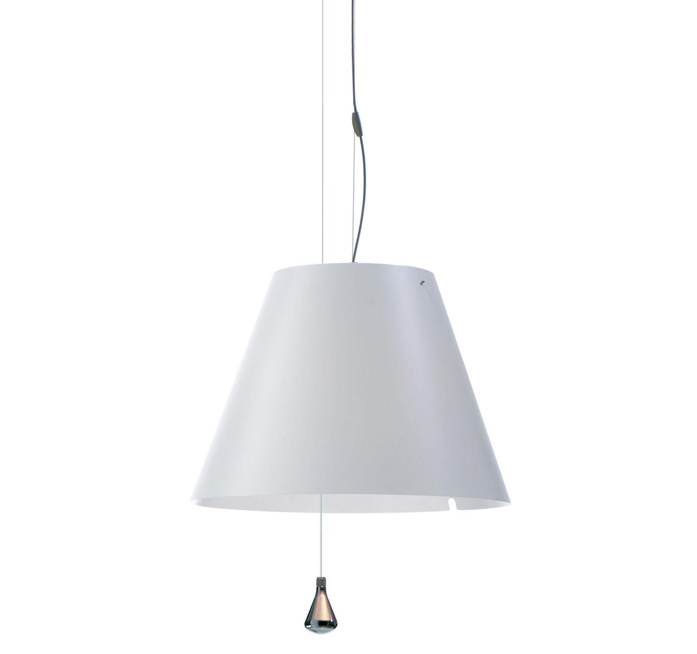 Leuchten - Pendelleuchten - Lady Costanza Pendelleuchte / Ø 50 cm x H 35 cm - Luceplan - Weiß - Polykarbonat