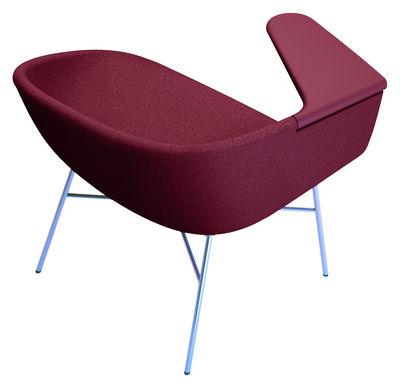 Arredamento - Poltrone design  - Poltrona imbottita Moment - / 4 gambe di Offecct - Prugna / 4 gambe - Espanso, MDF, Metallo, Tessuto