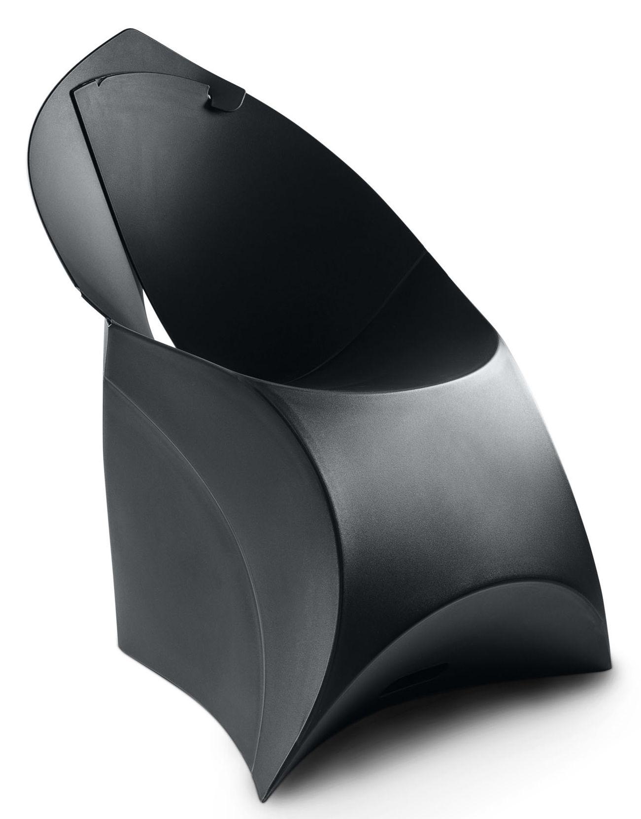 Arredamento - Sedie  - Poltrona pieghevole Flux Chair di Flux - Nero - Polipropilene