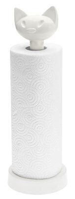 Porte-rouleau essuie-tout Miaou - Koziol blanc opaque en matière plastique