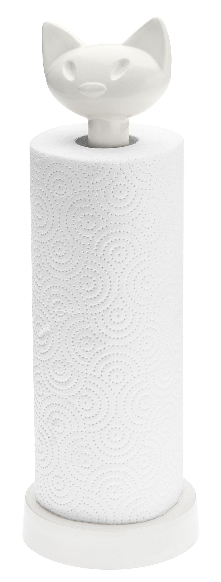 Arts de la table - Accessoires - Porte-rouleau essuie-tout Miaou - Koziol - Blanc opaque - Plastique