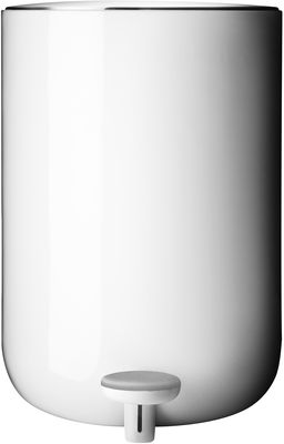 Déco - Salle de bains - Poubelle à pédale / 7 Litres - Menu - Blanc - Acier inoxydable, Plastique