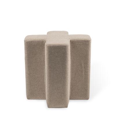 Mobilier - Poufs - Pouf Cross / Tissu - Pols Potten - Ecru - Métal, Mousse HR, Tissu polyester