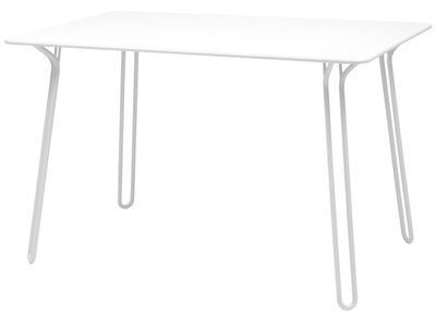 Outdoor - Garden Tables - Surprising Rectangular table by Fermob - Cotton White - Steel