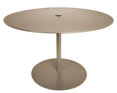 Outdoor - Garden Tables - XL Round table - Ø 120 cm by Fatboy - Taupe - Galvanized metal