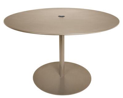 Outdoor - Gartentische - XL Runder Tisch / Metall - Ø 120 cm - Fatboy - Taupe - Galvanisiertes Metall