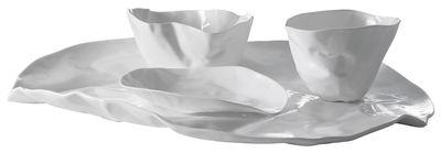 Tavola - Piatti  - Servizio di piatti Adelaïde X - 1 vassoio + 2 ciotole + 1 piccola coppa di Driade Kosmo - Bianco - Porcellana Bone China