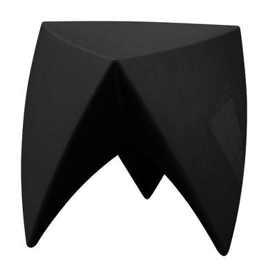 Arredamento - Tavolini  - Sgabello impilabile Mr. LEM - versione laccata di MyYour - Nero laccato - Polietilene laccato