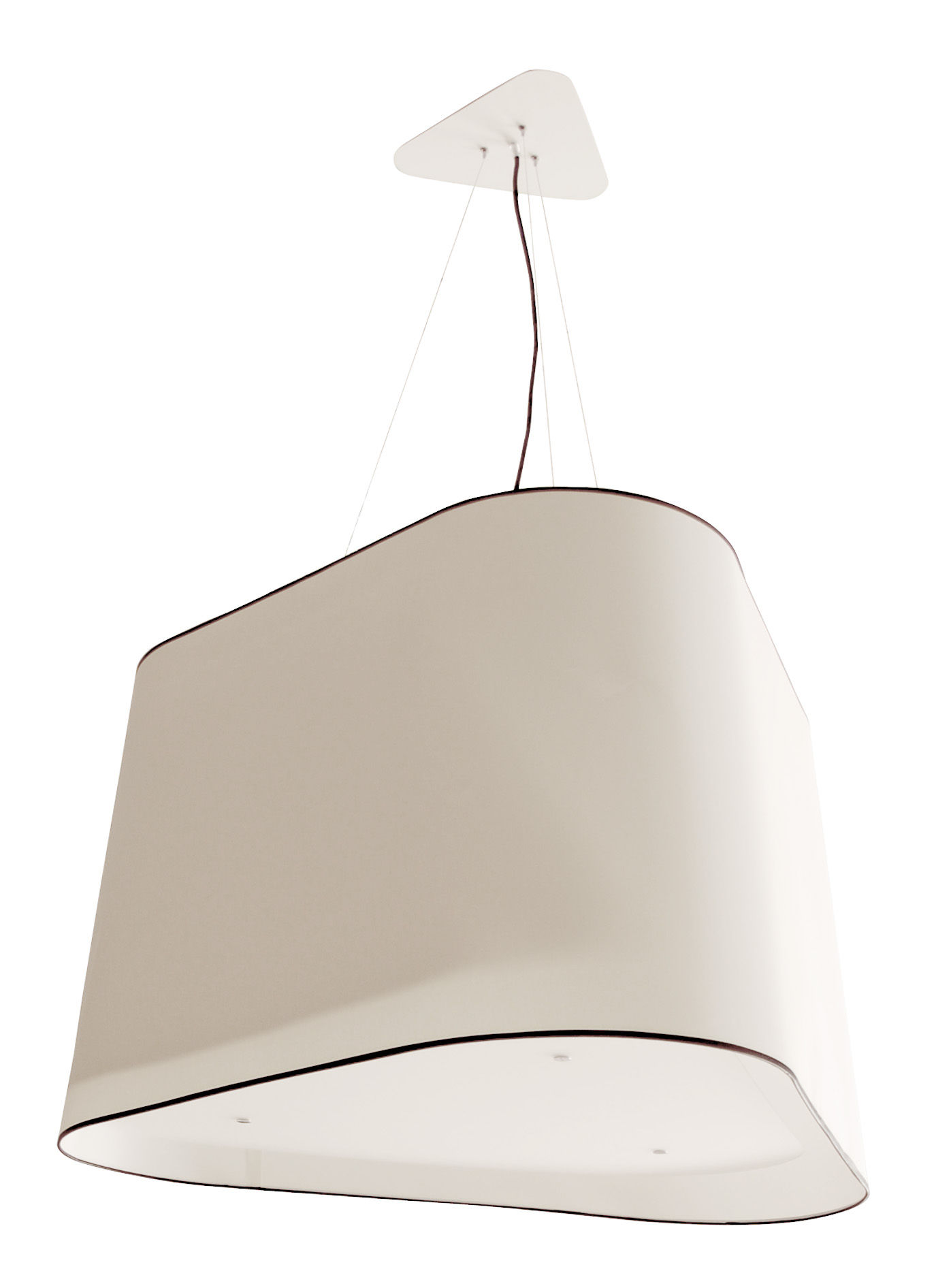 Illuminazione - Lampadari - Sospensione Grand Nuage XXL - XXL di Designheure - Bianco / Bordo nero - Cotone percalle