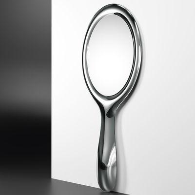 Interni - Specchi - Specchio murale Lollipop - / L 90 x H 200 cm di FIAM - Argento - Vetro