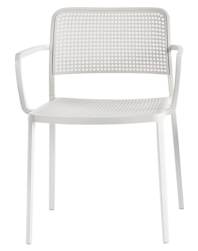 Möbel - Stühle  - Audrey Stapelbarer Sessel Gestell lackiert - Kartell - Gestell: weiß - Sitzfläche: weiß - lackiertes Aluminium, Polypropylen
