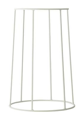 Support / H 40 cm - Pour pot et lampe à huile Wire - Menu blanc en métal