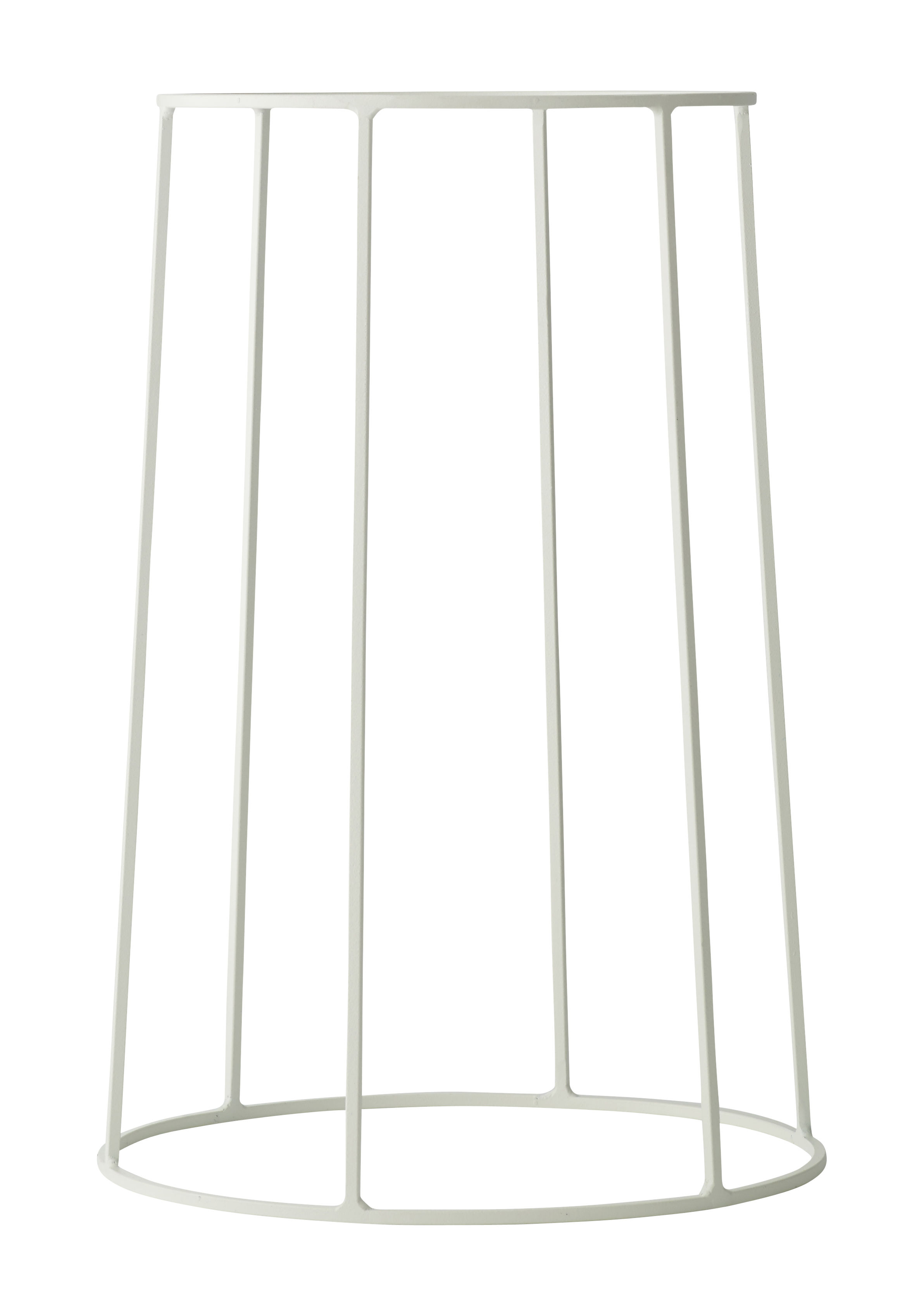 Outdoor - Pots et plantes - Support / H 40 cm - Pour pot et lampe à huile Wire - Menu - Blanc - Acier laqué mat