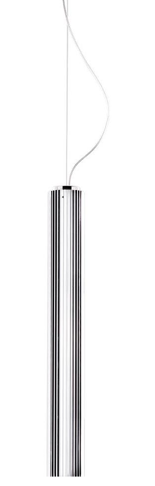 Luminaire - Suspensions - Suspension Rifly / LED - H 60 cm - Kartell - Chromé - Polycarbonate métallisé plissé