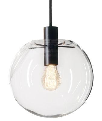 Luminaire - Suspensions - Suspension Selene / Ø 20 cm - Verre soufflé bouche - ClassiCon - Noir / Transparent - Métal laqué, Verre soufflé bouche