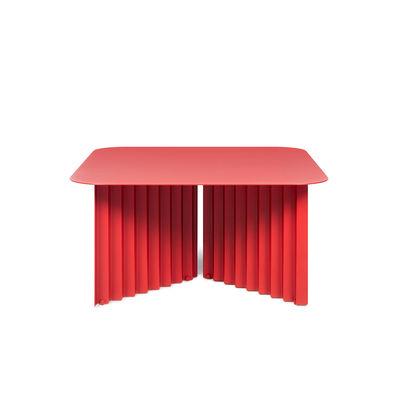 Table basse Plec Medium / Acier - 70 x 70 x H 35 cm - RS BARCELONA rouge en métal